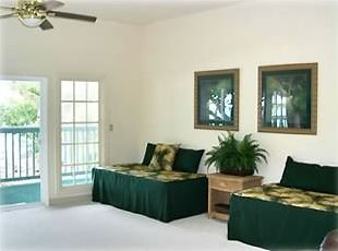 Living Room with Door to Huge Lanai