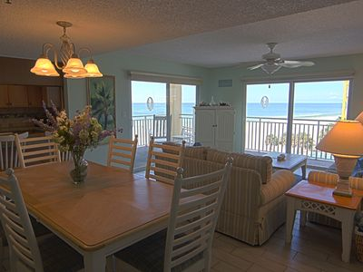 Redington Shores condo rental - Dining/Living room with a view!