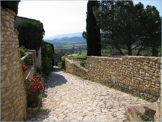 Gordes house photo - Our path into the village center.