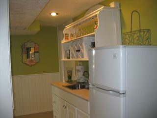 South Haven house photo - Lower level wet bar and additional fridge