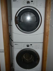 Washer and dryer area.