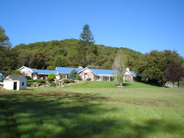 Ahwahnee estate rental - House and front lawn from pasture #5