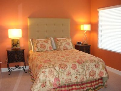 Guest Bedroom with Queen Size Bed & Shared Bathroom