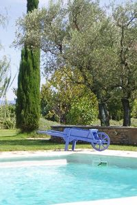Provencal farmhouse winemaker 19th among the vineyards and olive groves