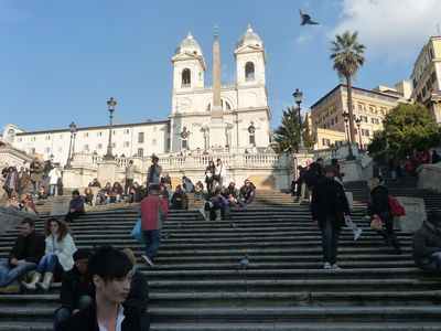 The neighborhood landmark is the Spanish Steps..
