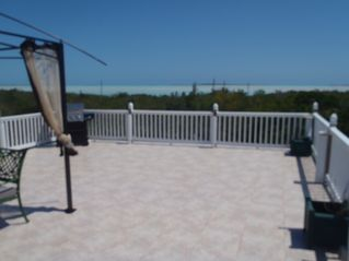 Great Exuma apartment photo - .view of the upper deck which has a gas barbeque