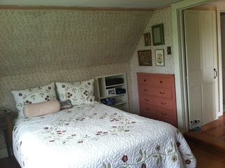 Block Island house photo - double bed opposite twin in one of the 2 upstairs bedrooms