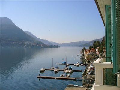 View from one of 5 lake-front facing balconies - Lake Como rental