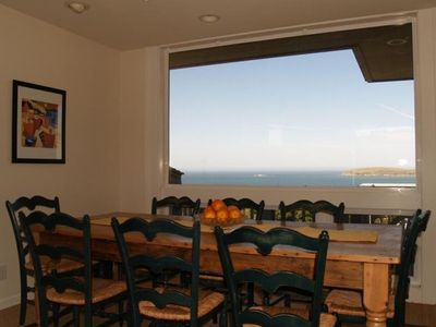 Look out Bodega Head while dining