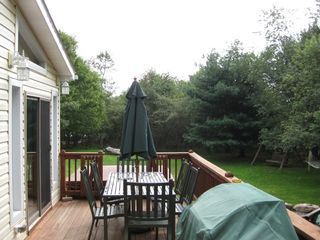 Towamensing Trails house photo - Side deck with barbecute setting (summer view)