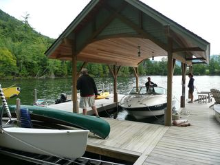 Huletts Landing house photo - Shared dock with boat space.