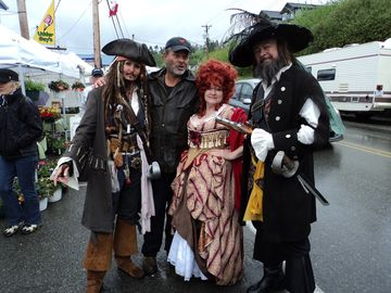 Cap'n Jack and friends at the annual Spot Prawn festival