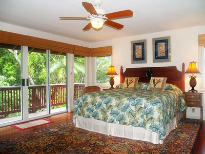 Riverhouse: Your well appointed master suite looks over the river below.