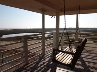Galveston property rental photo - Swing of Solitude - You can see 50 miles of shoreline