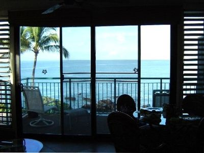 Kihei condo rental - View of the ocean from living room