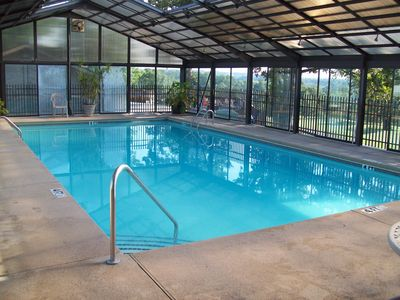 Indoor pool for swimming all year long - next to the outdoor pool