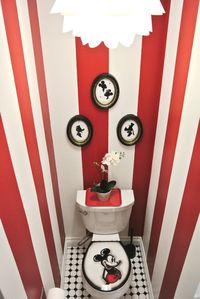 The fabulously fun Mickey Mouse bathroom with lots of little Disney details