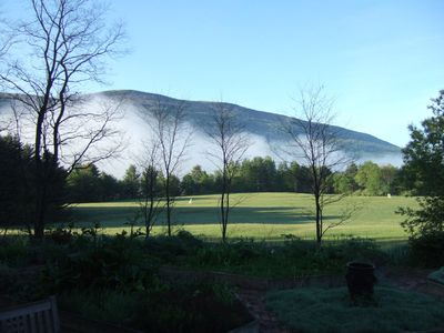 Hildene Meadow on a summer morning from the rear patio