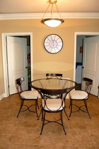 Dining area is perfect for a quick breakfast, nice meal, or game of cards.