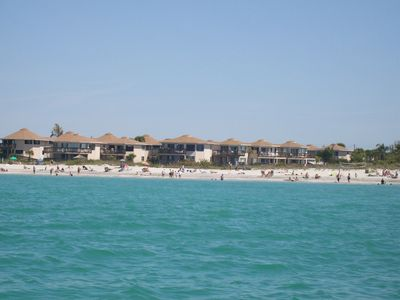 Castaways Condos from the Gulf! Enjoy the white sand beach and warm water!
