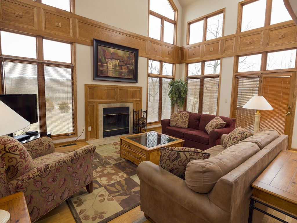 Large Open Living Room With