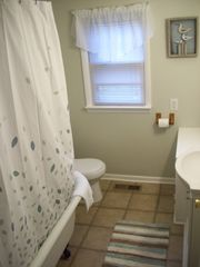 Colonial Beach cottage photo - Clawfoot tub/shower in main bathroom