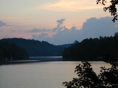 Lake Toxaway house rental - Evening View