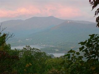 Hiawassee chalet photo - Late Summer evening deck views