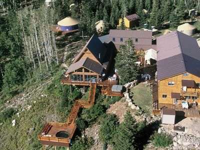 Aerial view of Summit Mountain Lodge and Resort.