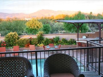 View of mountains from main floor veranda.