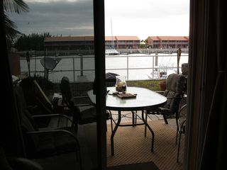 Patio right outside your door - Bimini condo vacation rental photo
