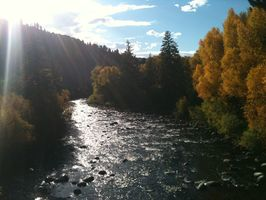View of Eagle River as you enter the HOA property - looking west.
