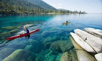 Kayaks on Tahoe