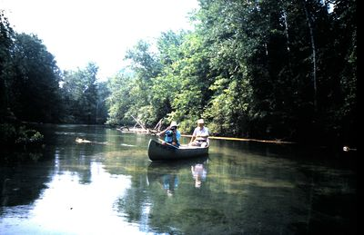 Canoeing on the Betsie River.
