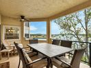 Large Covered Patio with Panoramic Lakeviews & Dining Area