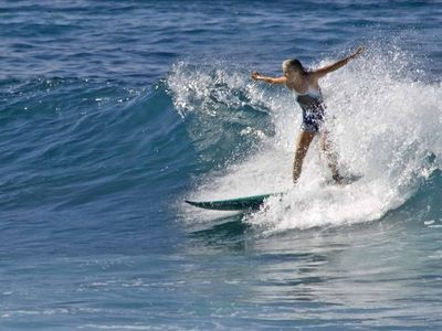 Watch surfers from your lanai - or surf yourself!