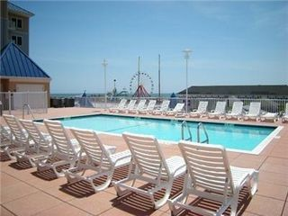 Belmont Towers Ocean City condo photo - Belmont Towers Pool in the 13,000 sq.ft. deck