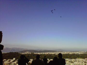 Watching Blue Angels during Fleet Week