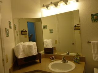 North Padre Island condo photo - Plenty of counter space in second bathroom