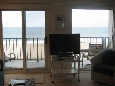 Soak in the ocean view while watching your flat screen tv.