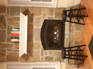 Wilmington house photo - Fireplace with stone hearth - good for drying wet ski gloves!