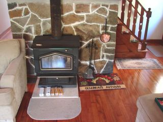 Newfound Lake house photo - Living Room with Wood Burning Stove