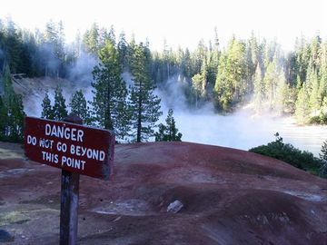 Mt. Lassen's boiling lake. One of many things to see.
