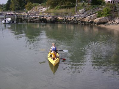 Kayak from beach, all ages fun