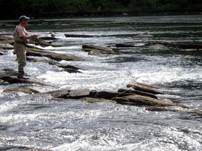 Enjoy Fishing at it's best from the banks of the Toccoa River