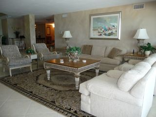 Les Falls condo photo - Comfortable living room has entertainment center and yes...gorgeous view!