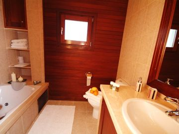 Bright bathroom with hidromassage shower