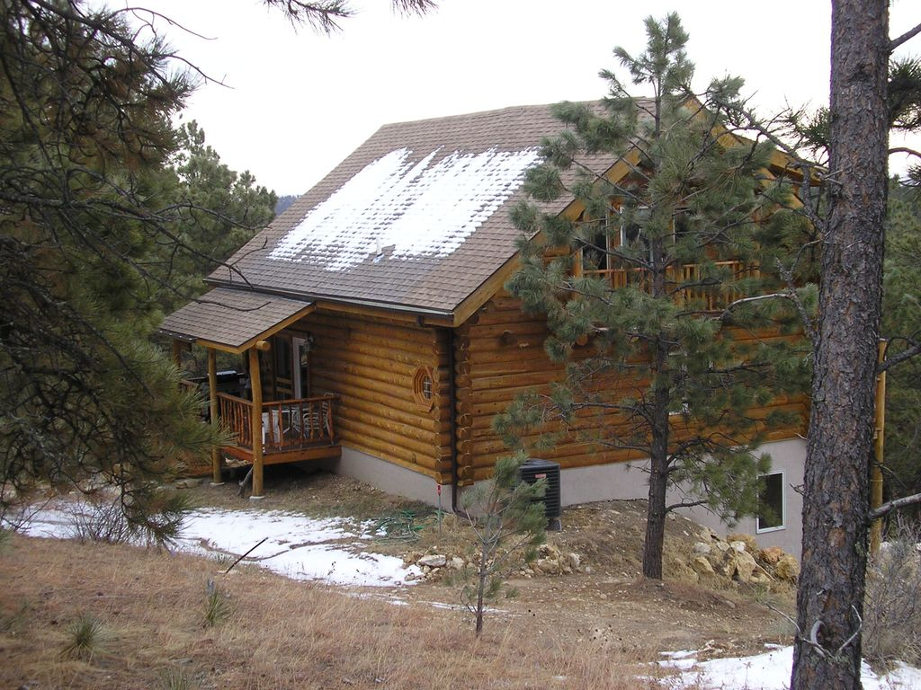 Custom built log cabin near custer state park vrbo for Cabins near custer sd
