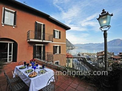 Argegno apartment rental - The very spacious terrace at Argegno Centrale