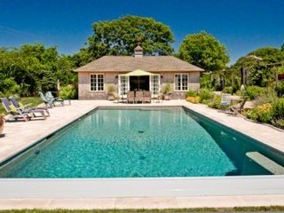 Gayhead - Aquinnah house photo - Pool House Features Its Own Suite With Full Bath, Kitchen & Living Area